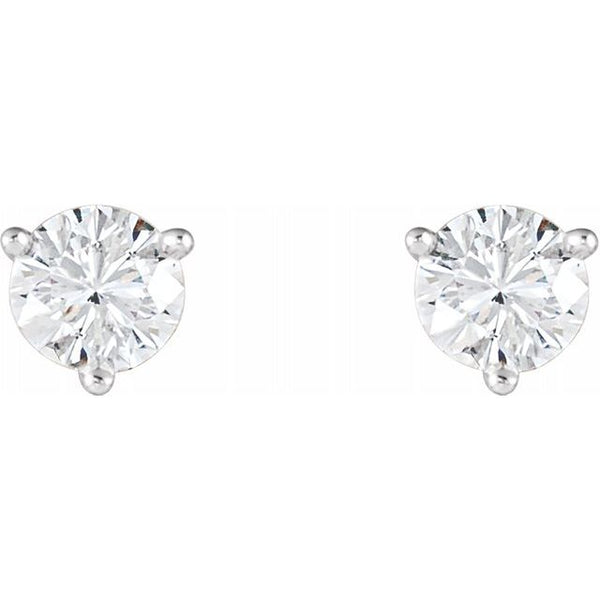1.00 ctw diamond earrings - three claw martini setting