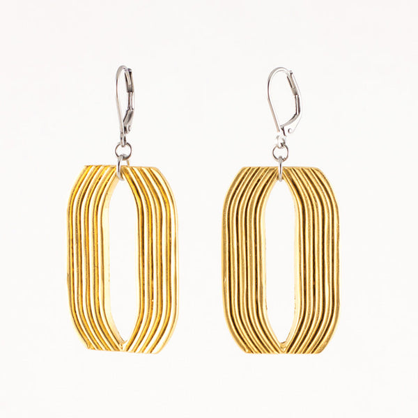 Nanette Earrings - Gold Tone or Pewter