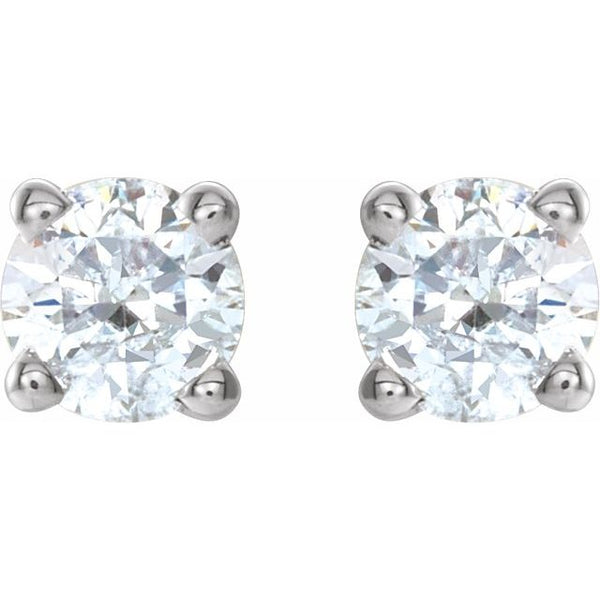 14K White 0.42 CTW Diamond Earrings