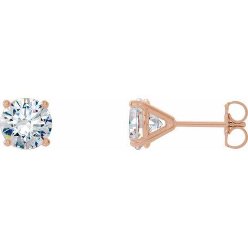 0.50ctw diamond earrings - four claw cocktail setting ROSE GOLD