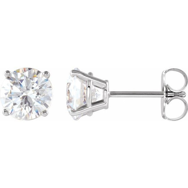 0.48 ctw diamond earrings - four claw setting