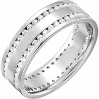 Double-Row Channel-Set Eternity Band