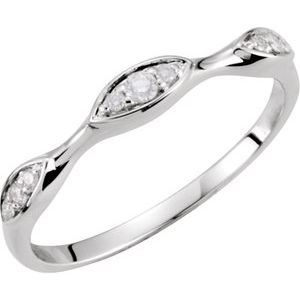 14K Diamond 0.10ctw Diamond Band