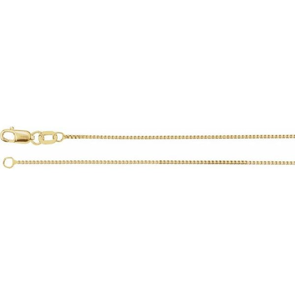 "10k Yellow Gold 20"" Box Link Chain"