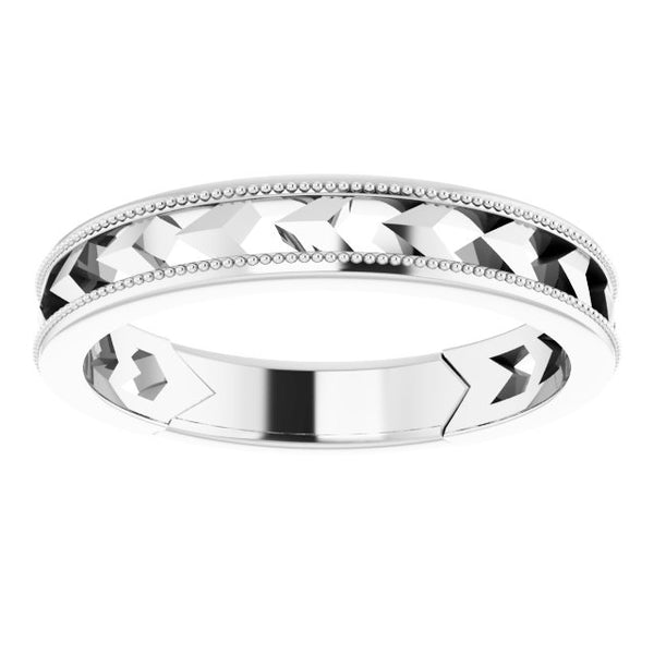 Sterling Silver Geometric Band