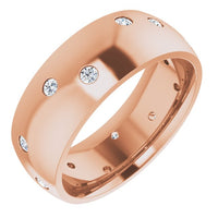 Diamond Scattered Accented Band