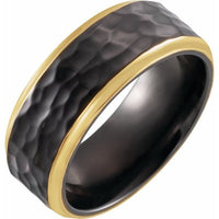 18K Yellow Gold PVD Black Titanium - 8mm