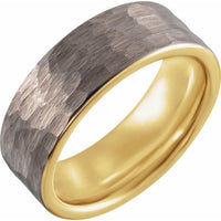 18K Yellow Gold PVD Tungsten - 8mm