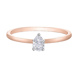 10k Rose Gold 0.24 Maple Leaf Canadian Diamond Ring