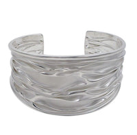 "Sterling Silver Wide ""Ripple"" Cuff Bangle"