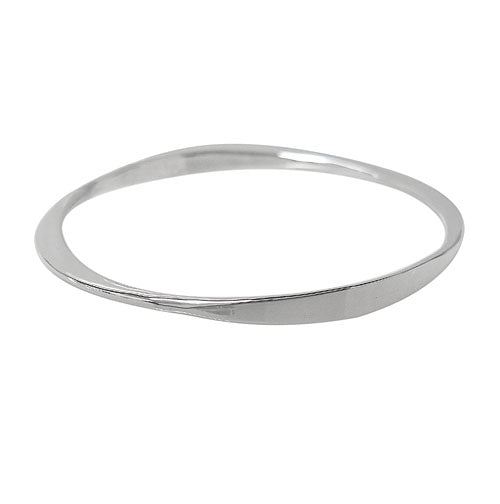 Sterling Silver Bangle - Flat edges