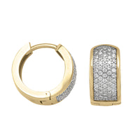10k Yellow Gold CZ Reversible Huggies