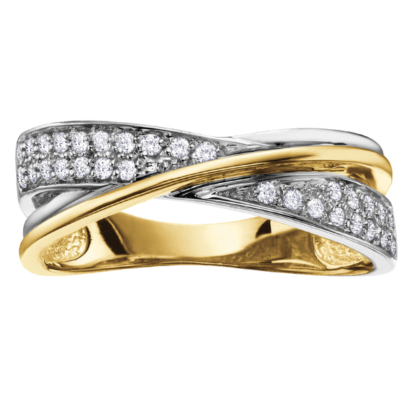 10k two-tone diamond band