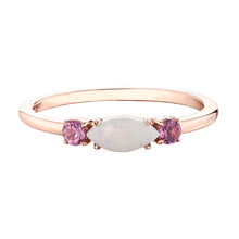 Load image into Gallery viewer, 10k rose gold opal and pink tourmaline ring
