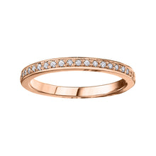 Load image into Gallery viewer, 10K Rose Gold Diamond Band