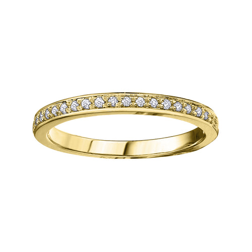 10K Yellow Gold Diamond Band
