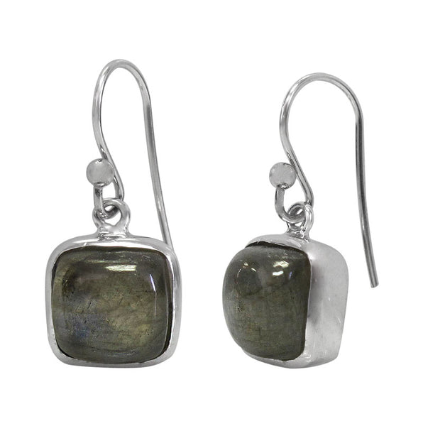 Sterling silver labradorite earring - square