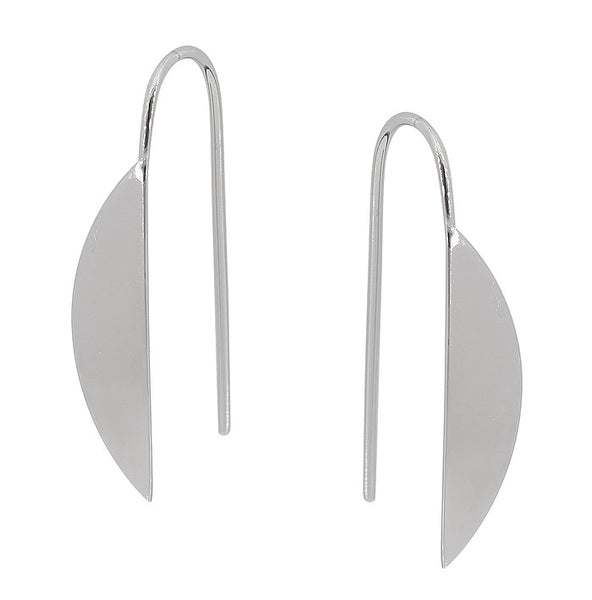Sterling Silver Half Circle Earrings