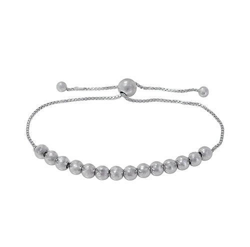 Sterling Silver Bead Bracelet - 4mm
