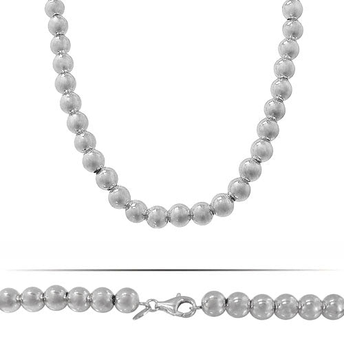 Ball Bead Necklace - Sterling Silver