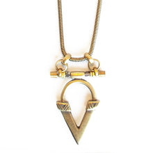 Load image into Gallery viewer, Kai V Necklace - Oxi Brass