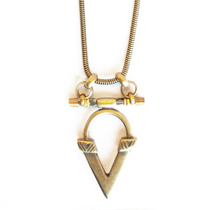 Kai V Necklace - Oxi Brass