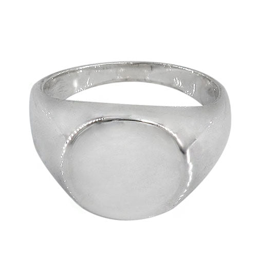 Sterling Silver Round Signet Ring