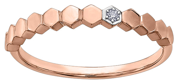 Honeycomb design diamond ring - available in yellow, rose or white gold