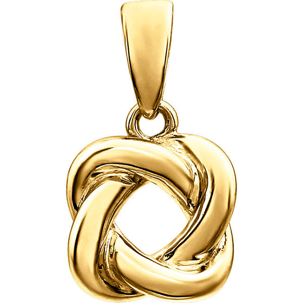 14K Knot Necklace - 18""