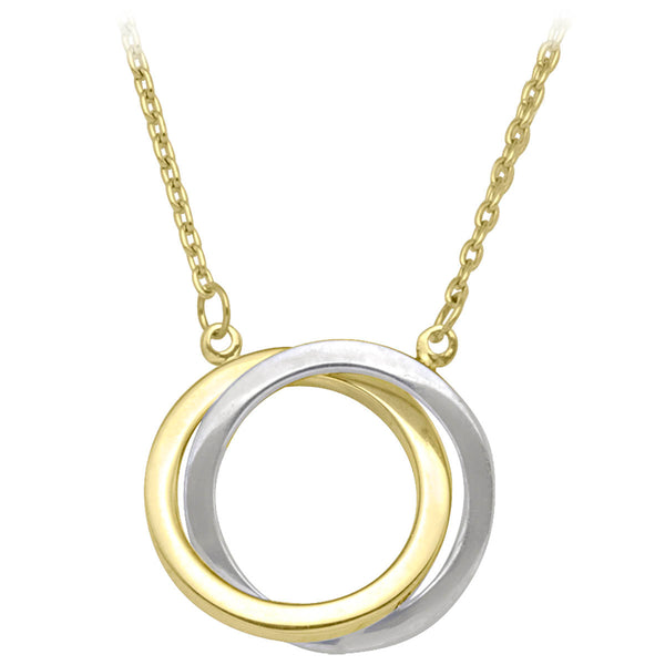 10k Two-Tone Circle Necklace