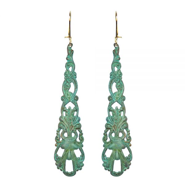 Verdigris Anais Earrings