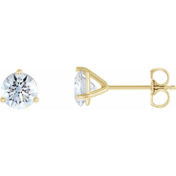 0.50 ctw diamond earrings - three claw martini setting