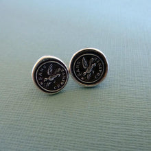 Load image into Gallery viewer, Fearless Eagle Wax Seal Earrings