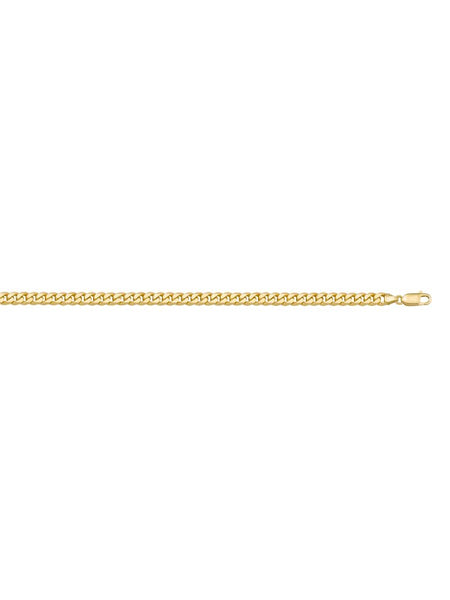 "10k Yellow Gold 22"" Flat Beveled Link Chain - 4.75mm"