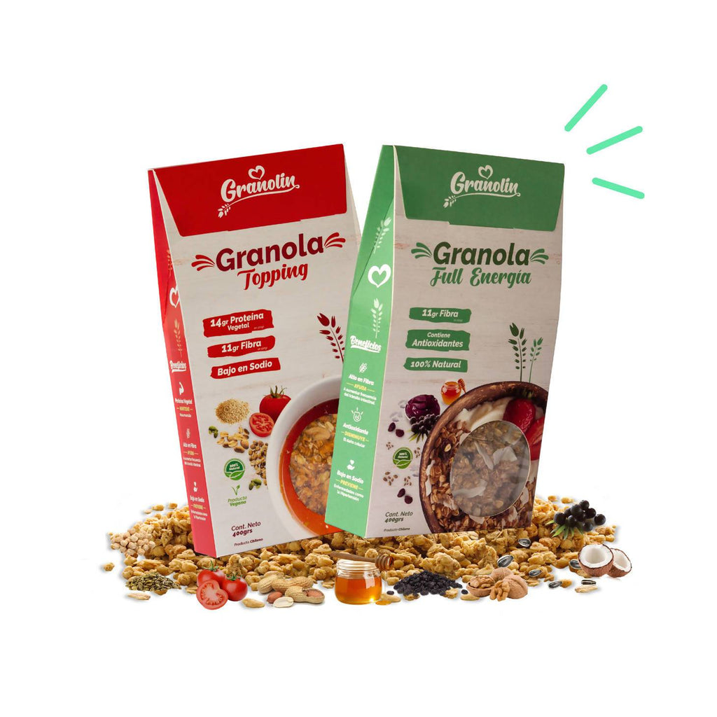 Pack Duo 400g Granola Full Energía + Topping - CCARD