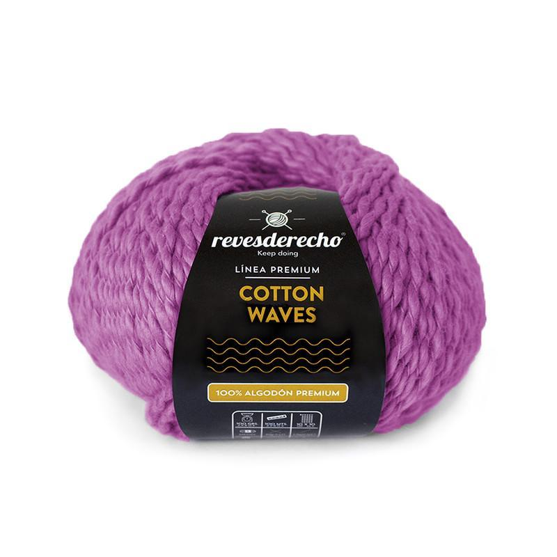 Cotton Waves fucsia