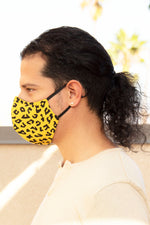 Yellow Cheetah w/ Black Spots Face Mask - pacorogiene