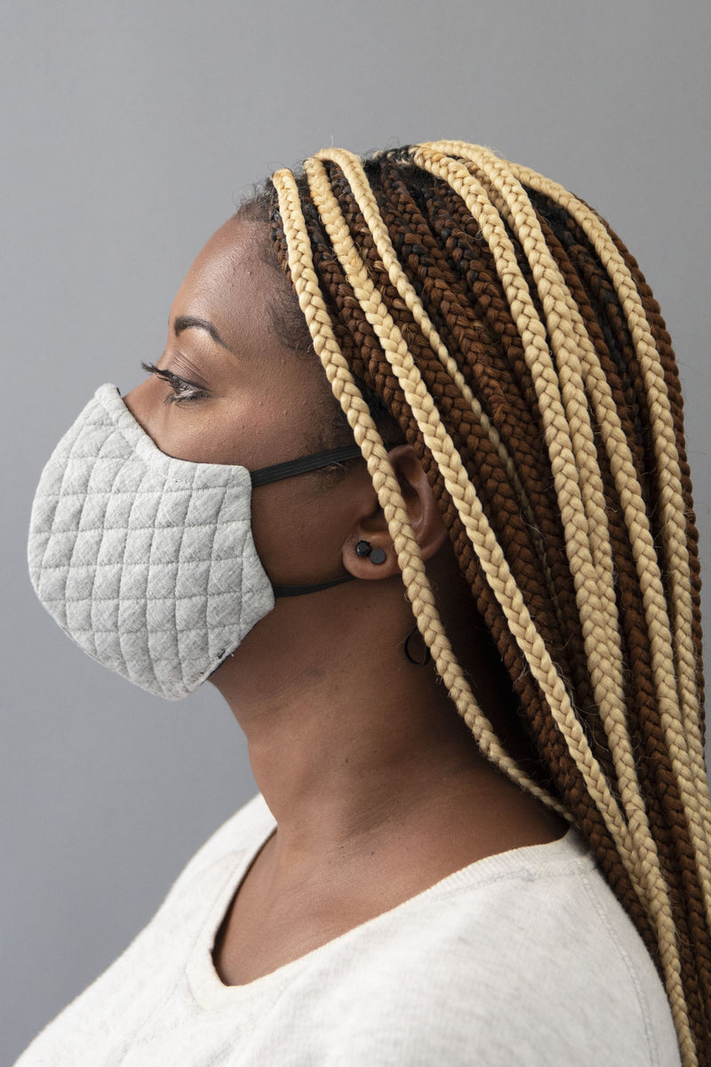 Quilted Face Mask (Grey) - pacorogiene