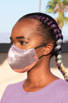 Sequin Face Mask (Metallic Pink) - pacorogiene