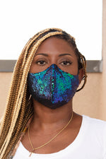 Sequin Face Mask (Peacock) - pacorogiene