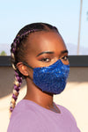Sequin Face Mask (Royal Blue) - pacorogiene