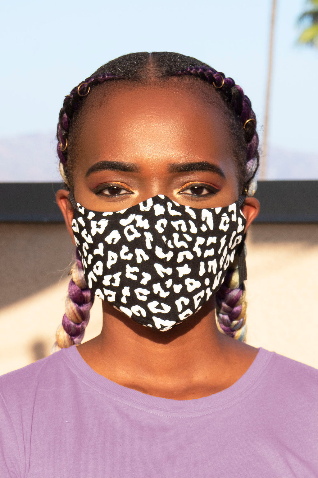 Black Cheetah Print Secure-Fit Face Mask - pacorogiene