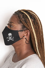 Skull and Crossbones Secure-Fit Face Mask - pacorogiene