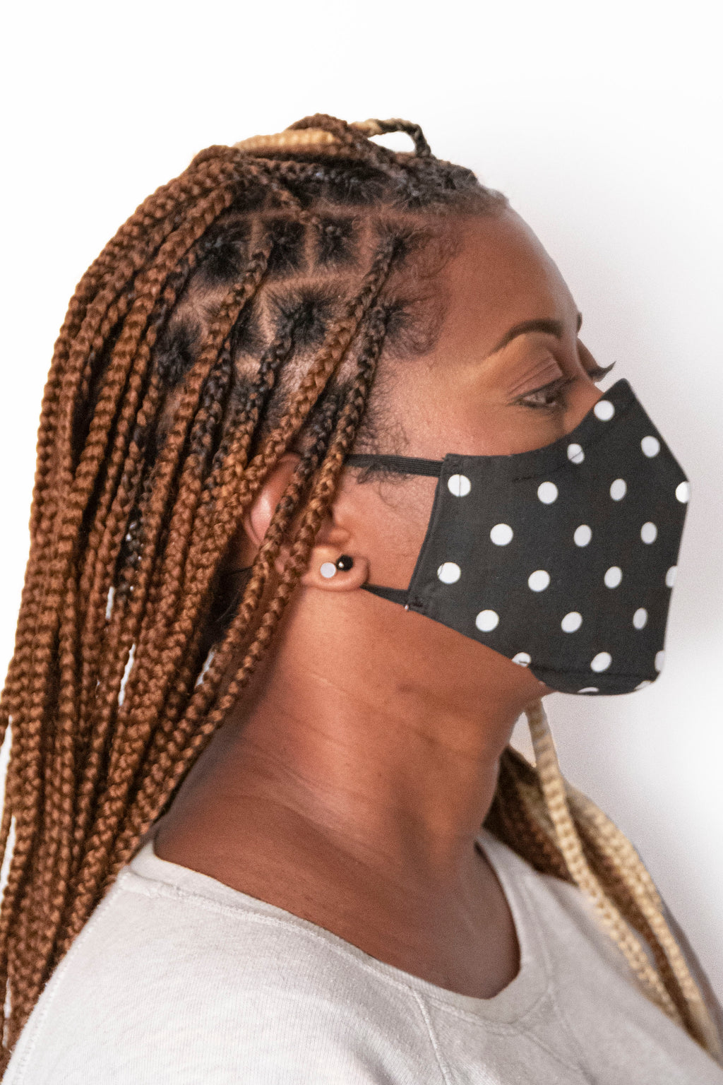 Polkadots Secure-Fit Face Mask - pacorogiene
