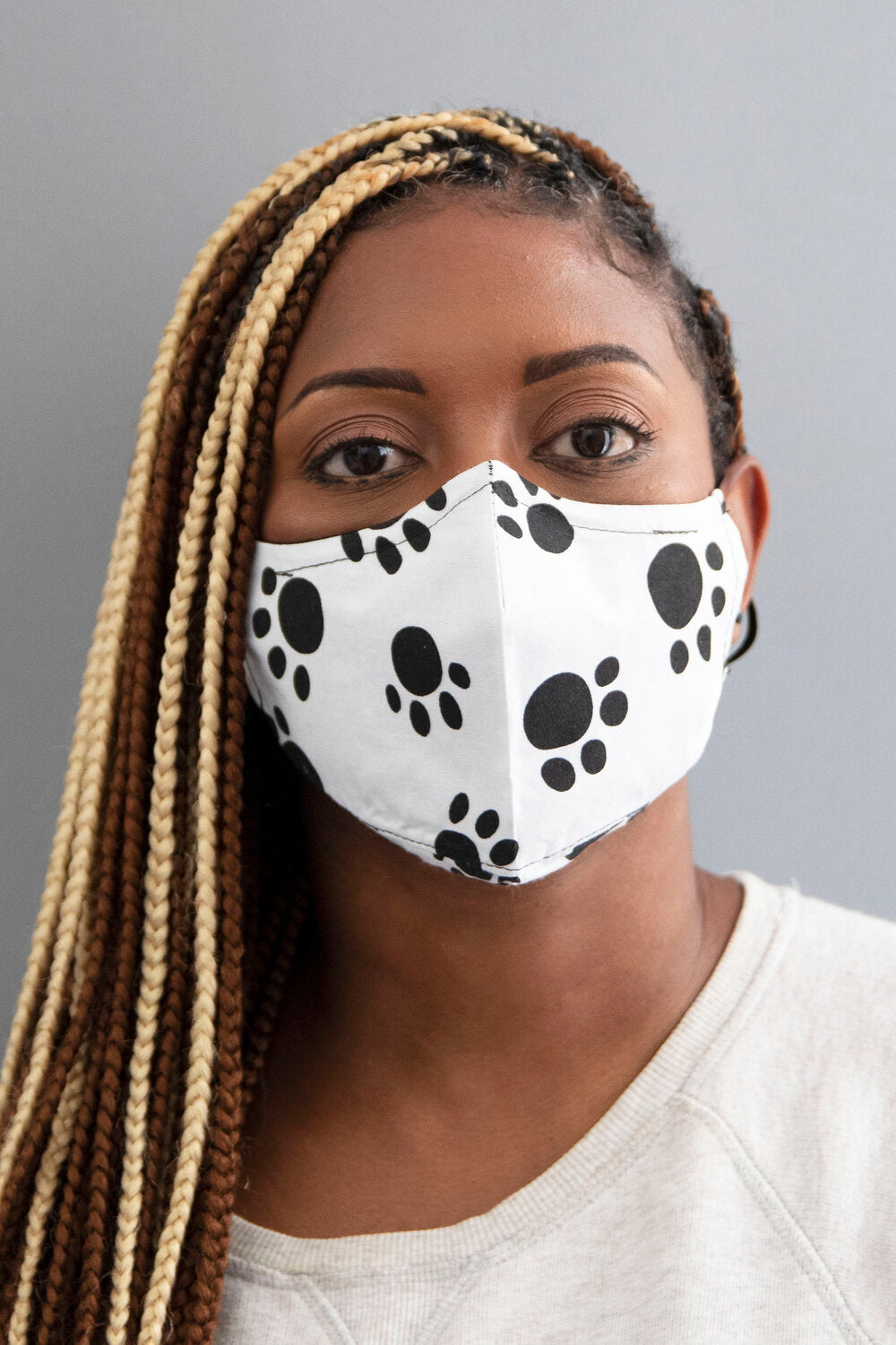 Paw Print Secure-Fit Face Mask - pacorogiene