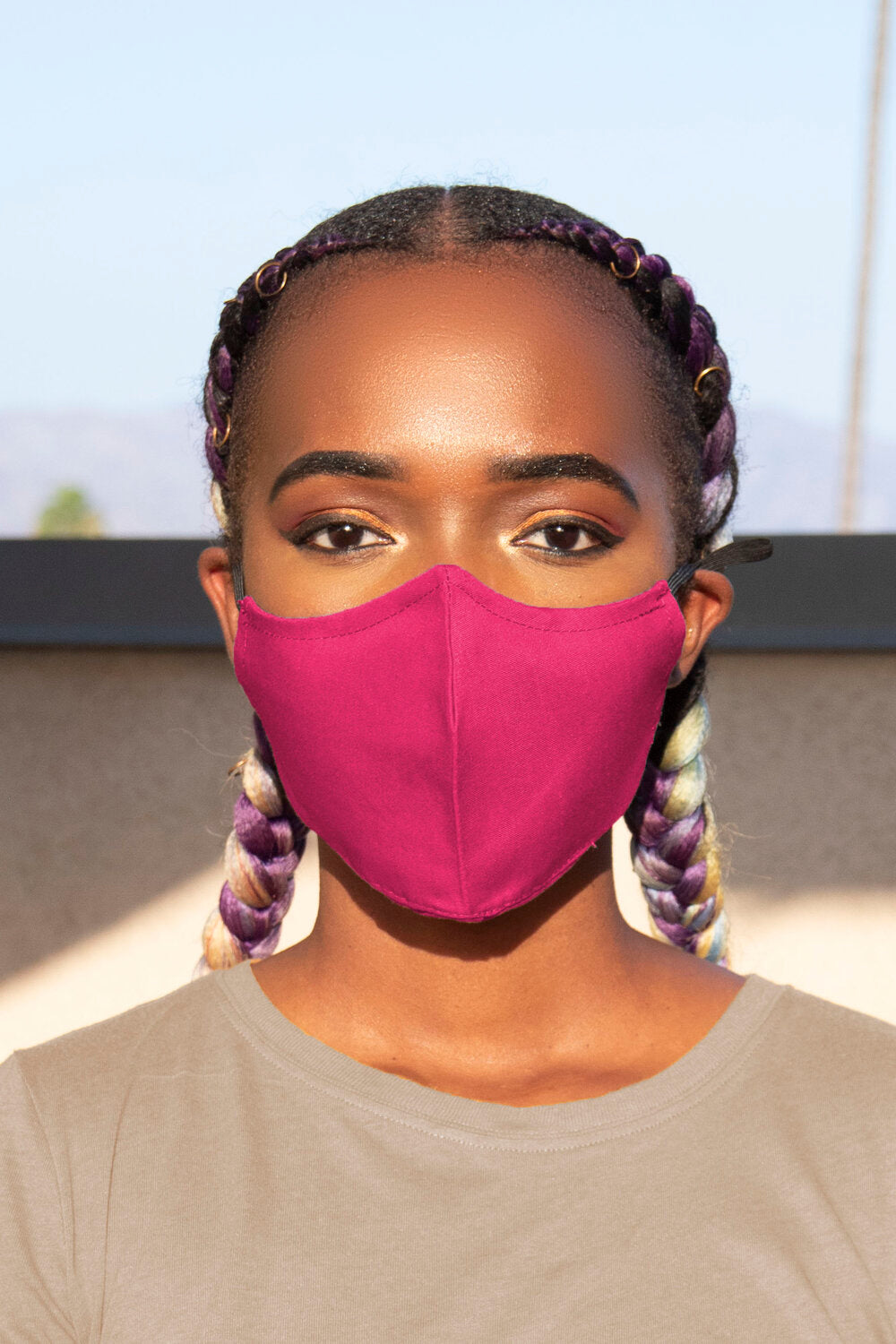 Fuchsia Secure-Fit Face Mask - pacorogiene