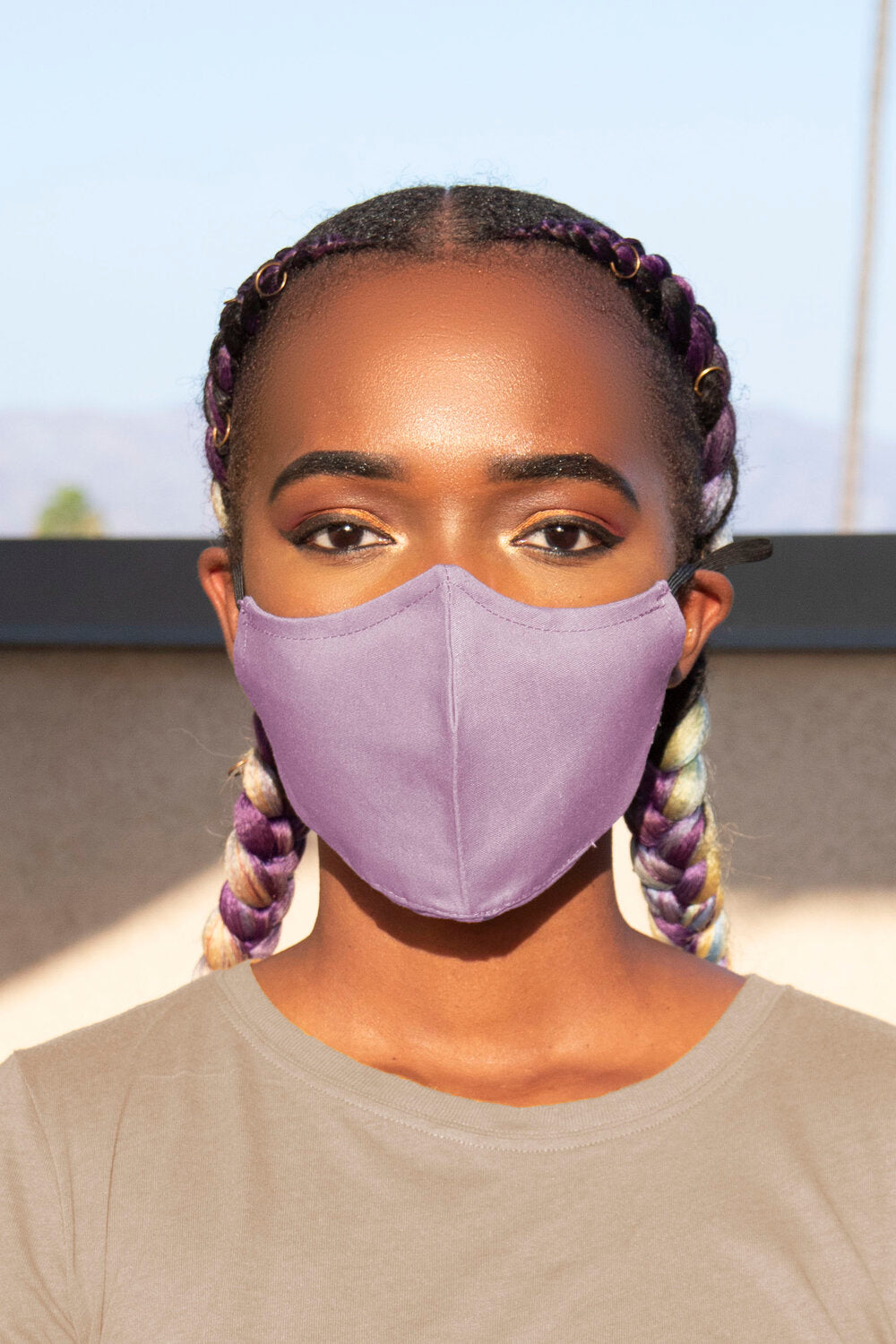 Lilac Secure-Fit Face Mask - pacorogiene