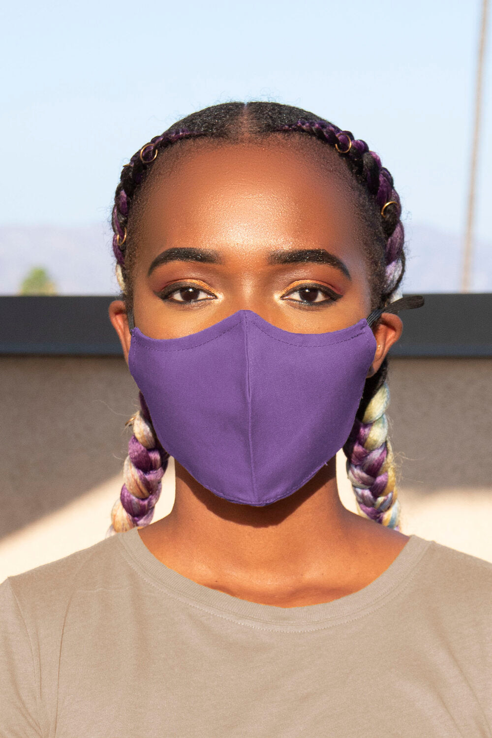 Purple Secure-Fit Face Mask - pacorogiene