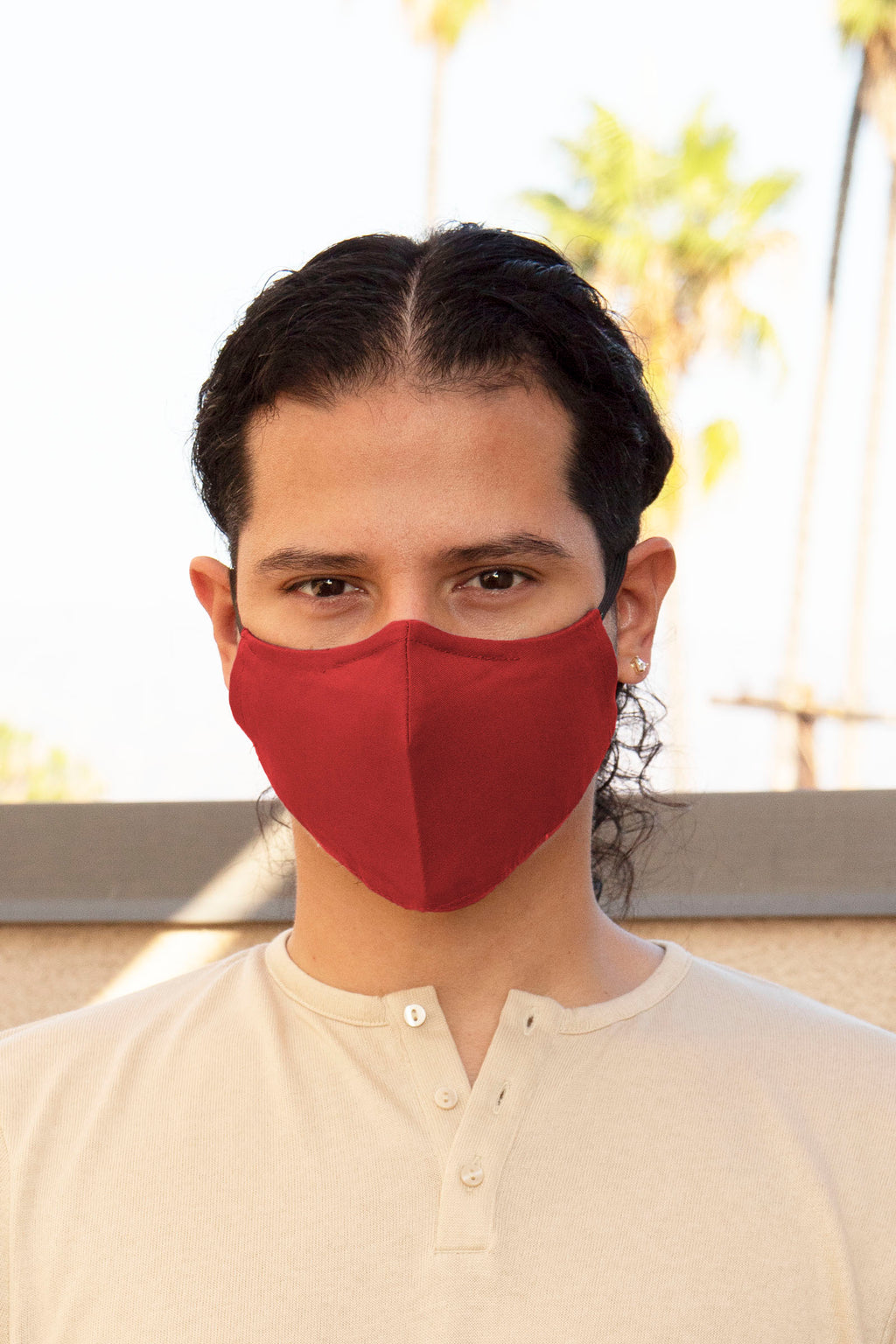 Red Secure-Fit Face Mask - pacorogiene