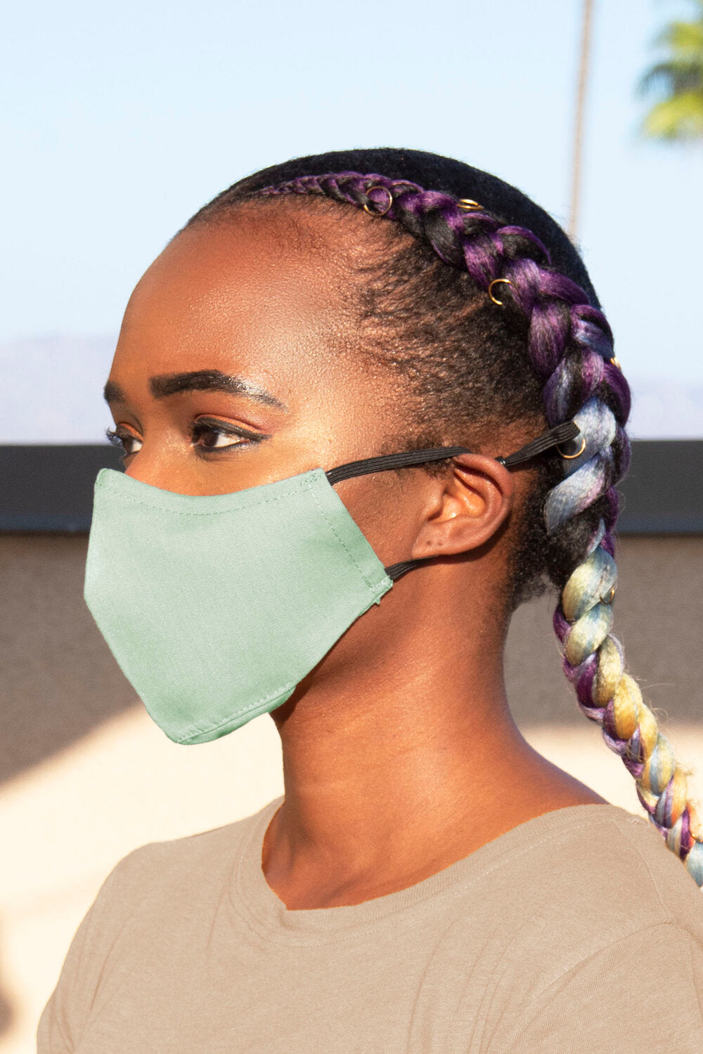 Seafoam Secure-Fit Face Mask - pacorogiene